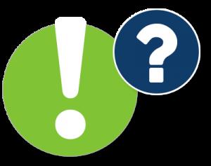 Fragezeichen- und Ausrufezeichen-Icon