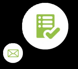 Checklist- und Email-Icon