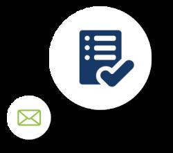 Checklist-Icon und E-Mail Icon